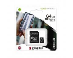 MEMORIA MICRO SD 64GB KINGSTON UHS-I 100MBPS CANVAS