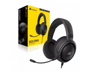 AURICULAR CORSAIR HS35 STEREO GAMING CARBON PC / PS4 / XBOX
