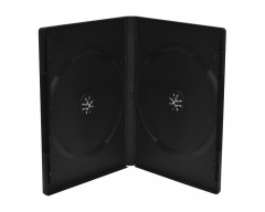 CAJA DVD NEGRA 14MM DOBLE