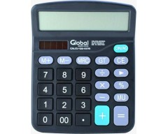 CALCULADORA GLOBAL 12 DIGITOS PLASTICA 837V NEGRA