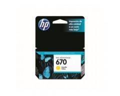 CARTUCHO HP 670 AMARILLO 3,5ML