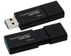 PENDRIVE 16GB KINGSTON 3.0 DT100G3 - NEGRO