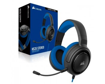 AURICULAR CORSAIR HS35 STEREO GAMING BLUE PC / PS4 / XBOX