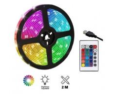KIT LUCES LED RGB USB 2MT