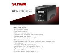 UPS LYONN 800VA C/SOFT