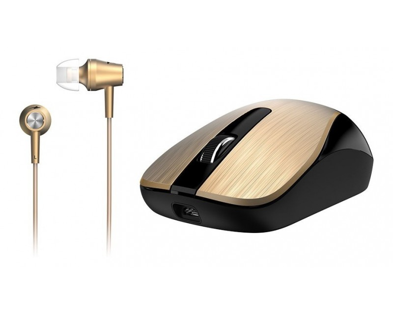 MOUSE + AURICULAR GENIUS MH-8015 WL GOLD