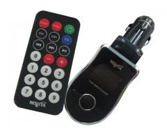 TRANSMISOR FM CON CONTROL REMOTO NISUTA NS-FM61