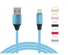 CABLE IPHONE LIGHTNING USB 1M 2.1A NISUTA NS-CAMEIP MALLA METAL
