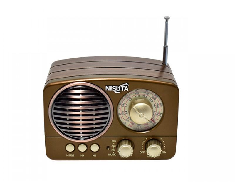 RADIO AM/FM VINTAGE MP3-BT-AUX NISUTA NS-RV14