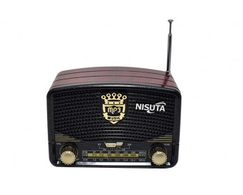RADIO AM/FM VINTAGE MP3-BT-AUX NISUTA NS-RV16