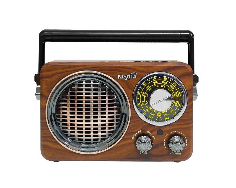 RADIO AM/FM VINTAGE MP3-BT-AUX NISUTA NS-RV17