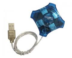 HUB USB 2.0 4 PUERTOS NISUTA NS-UH0410