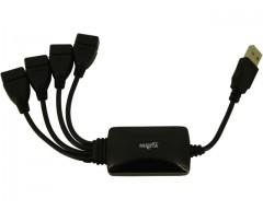 HUB USB 2.0 4 PUERTOS NISUTA NS-UH0439