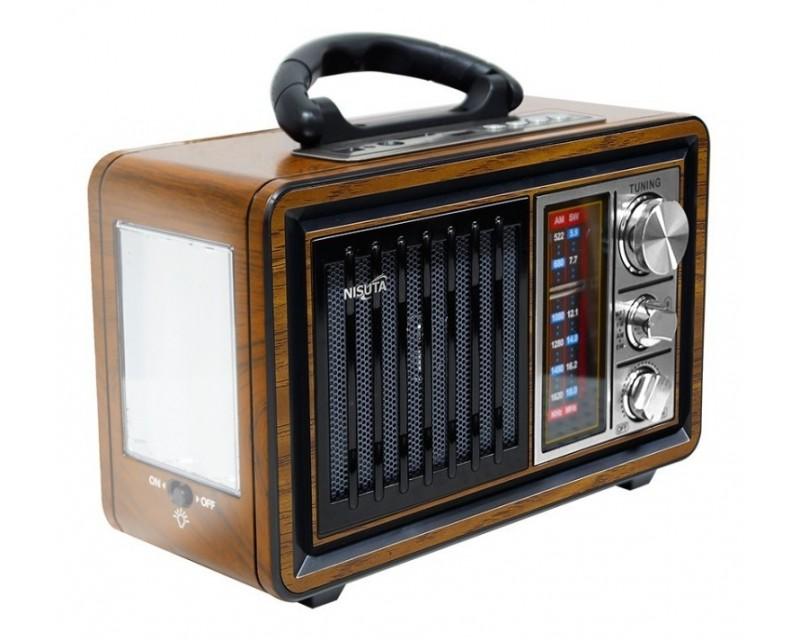 RADIO AM/FM VINTAGE MP3-BT-AUX NISUTA NS-RV18