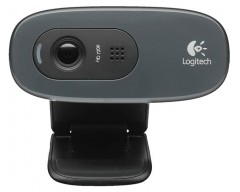 WEBCAM LOGITECH C270 BLACK HD 720P 3MPX MIC